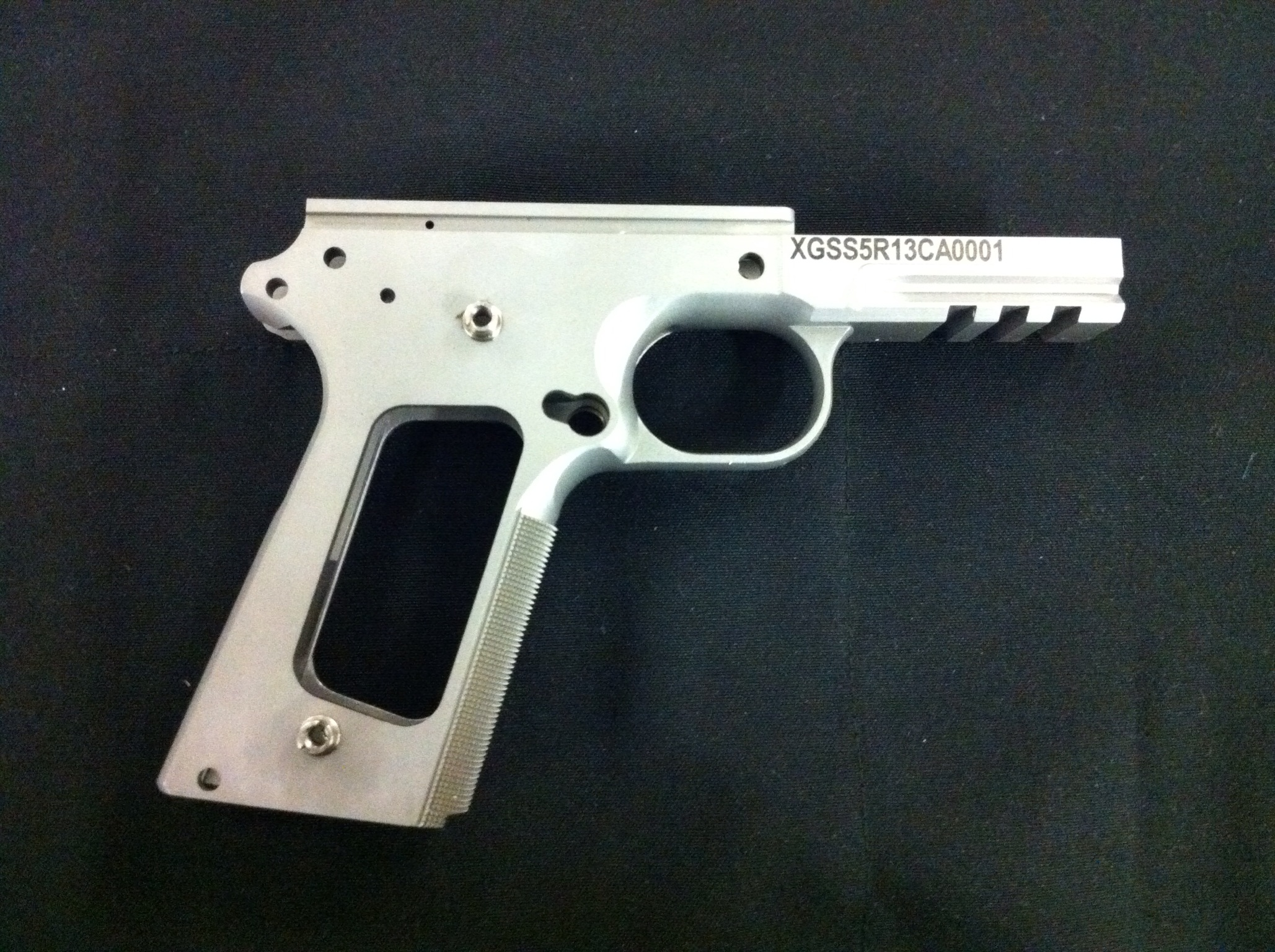 "Xtreme Gun 1911 5"" Forged Stainless Railed Frame 40SW"