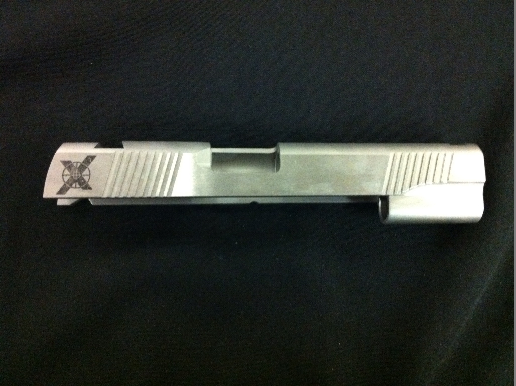 "Xtreme Gun 1911 5"" Forged stainless Slide cut front 40SW"