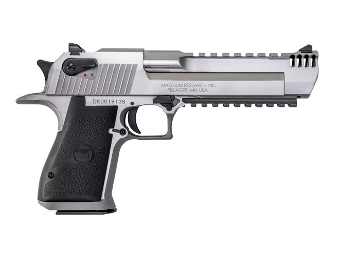Desert Eagle 50AE Stainless W/Comp and Lower Rail